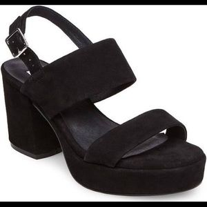 1ad90edcd0a Steve Madden Shoes - NEW Reba Black Suede Steve Madden Heels